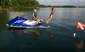Jet Skier Swimming