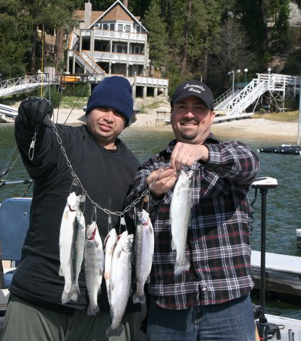 Fishermen with Bass Lake Catch