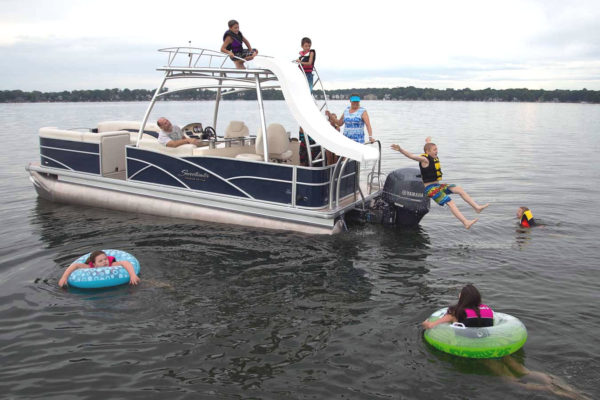 Slide Patio Boat Bass Lake Boat Rentals