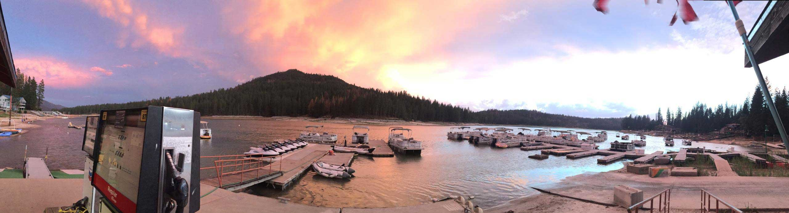 Fish Eye Sunset Bass Lake Boat Rentals