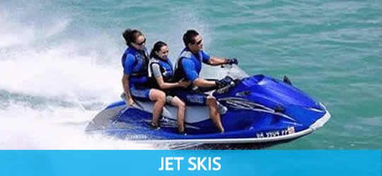 Kids having fun on a Jet Ski
