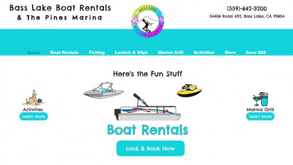 The Pines Marina Website Screenshot