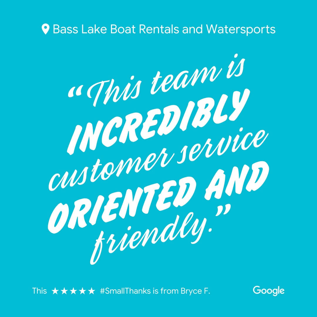 Bass Lake Boat Rentals Pines Resort Marina 5 Star Google Review